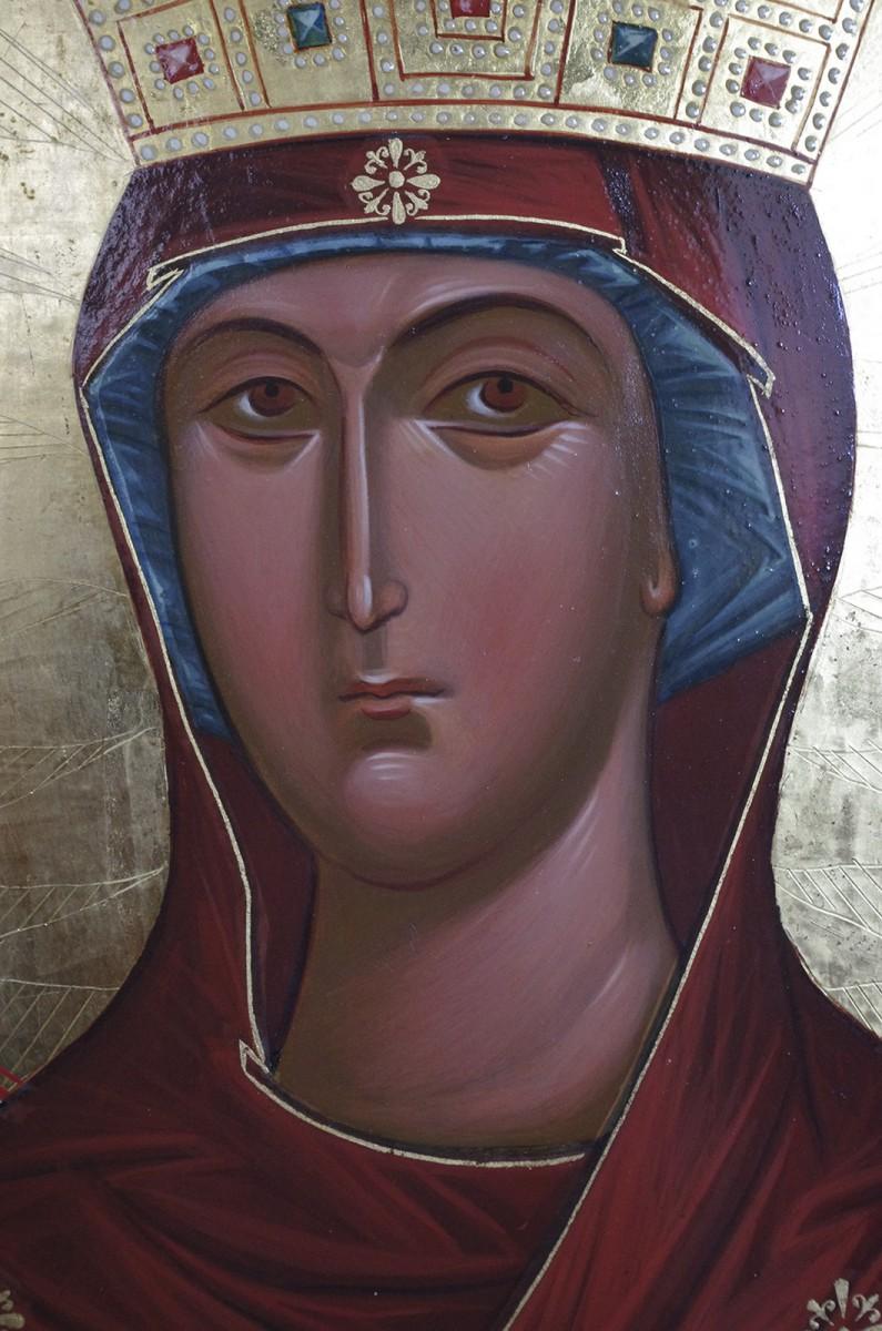 Лик Богоматери (фрагмент иконы)